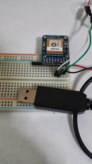 MTK3339チップを使ったGPSモジュール