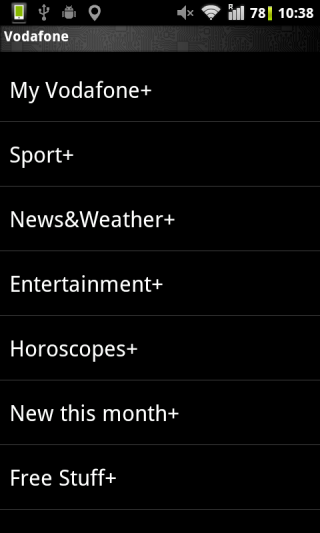SIM Toolkit アプリ画面