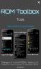 ROM Toolbox 初期起動画面