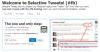 selective tweet の設定画面